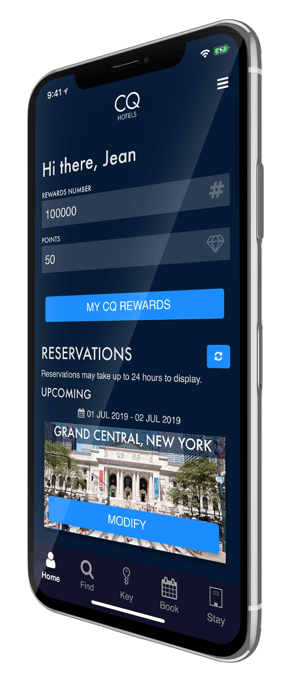 CQ Hotels Mobile App